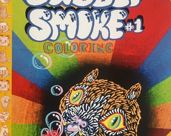 Bubble Smoke 1 Coloring Book for Adults and Kids