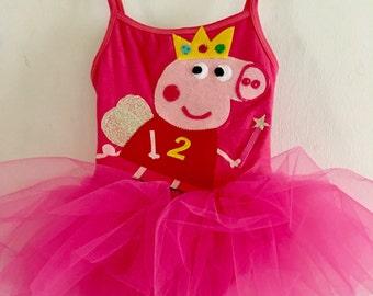 PEPPA TUTU DRESS- Peppa Tutu - Peppa Pig Party- Peppa Pig Birthday - Peppa Fairy