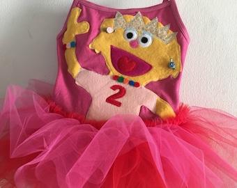 ZOE DRESS - Zoe Tutu  - Zoe Sesame Street Tutu Dress-  - Sesame Street tutu