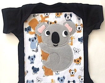 Baby Koala Bear Romper-Koala Bodysuit-Koala Baby Clothes-Koala Baby-Koala Bear Baby Shower Girl-Koala Baby Shower Boy-Australia Baby Gift