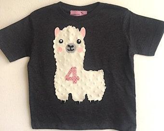 Llama Birthday Shirt-Llama First Birthday- Children's Llama Shirt-Llama Birthday Outfit-Llama Birthday top-Llama Birthday Tee