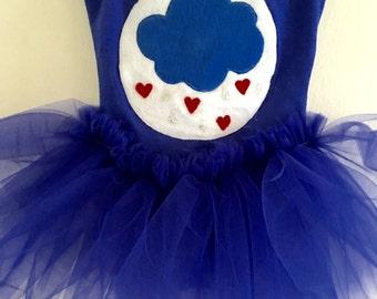 RAIN CLOUD TUTU - Grumpy Bear Tutu- Care Bear Tutu -Rainy Day Tutu- Rain Cloud Dress