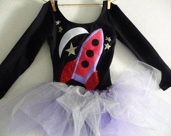 Spaceship Leotard Tutu -Spaceship Leotard -Astronaut Tutu -Girls Space Birthday Party-Girls Astronaut Costume -Girls Spaceship Birthday Tutu