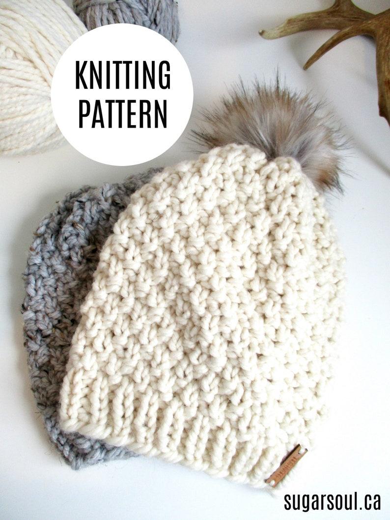 746b52ccb Pom Pom Hat Knitting Pattern / Knit Hat Pattern / Knit Pattern /PDF  Download / The Pom Pom Toque / Knit Pattern / PDF File / Ins