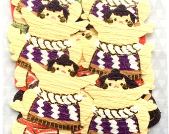 Sumo Stickers - Japanese Washi Stickers - Traditional Japanese Stickers -  (S260)