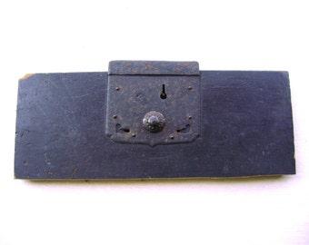 Vintage Japanese Tansu Drawer Front -  Wood Drawer Front - Hardware Japanese Furniture - Vintage Lock