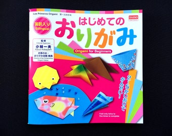 Japanese Origami Book - How To Book Craft Book - Bilingual Book Japanese And English - Lots of Pictures - Origami For Beginners