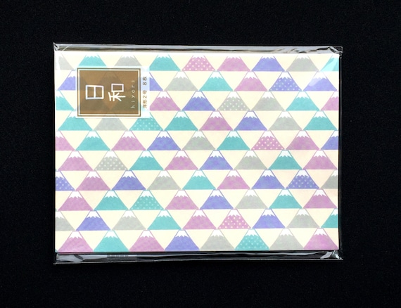 Mount Fuji Envelopes - Japanese Envelopes Traditional Set of 8