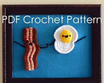 Crochet Bacon and Egg Amigurumi Pattern