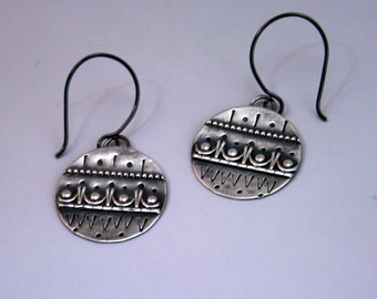 Brocade - Earrings - Sterling silver