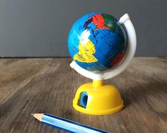 Miniature Globe Pencil Sharpener - World Map