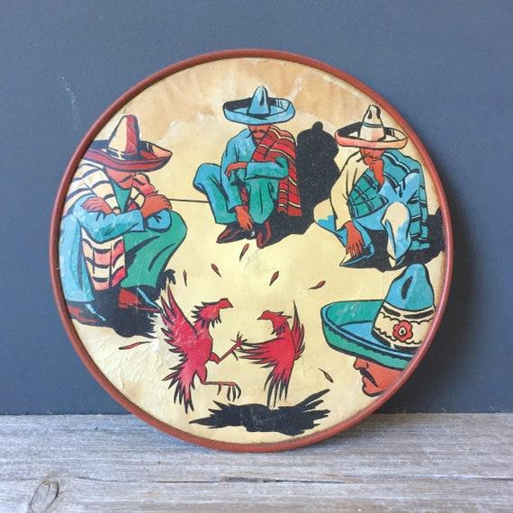 1950s Mexico Cock Fight Graphic
