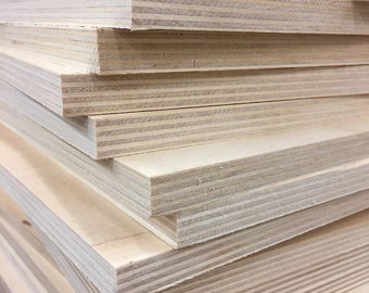 """Crafting?  8.5 x 11  1/2"""" Baltic Birch plywood - 10 sheets"""