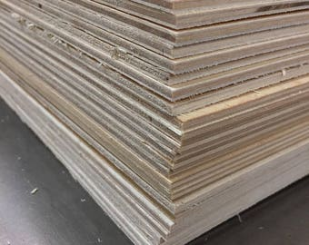 """12"""" x 12"""" x 1/8"""" Baltic Birch sheets  - perfect for laser work or crafting (40 sheets)"""