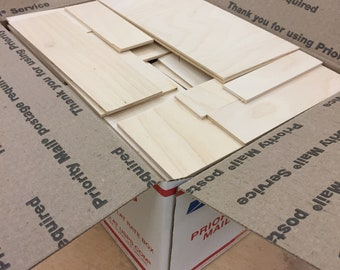 """ON SALE! Gi-normous box of 1/4""""  Baltic Birch pieces, perfect for crafting or laser work"""