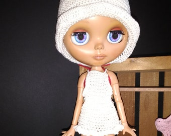 Blythe Crochet Apron with Ruffle Mori Girl Mori Style Separates Mix and Match