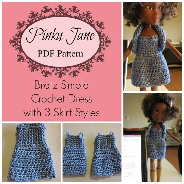 Bratz Simple Crochet Dress With 3 Skirt Styles Pdf Pattern Etsy