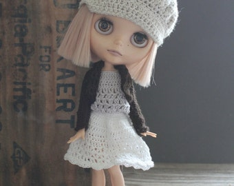 Blythe Crochet Long Sleeved Shrug Mori Girl Style Mix and Match Separates - Made to Order