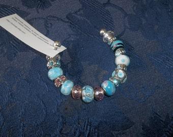 Beaded Metal Cuff Bracelet