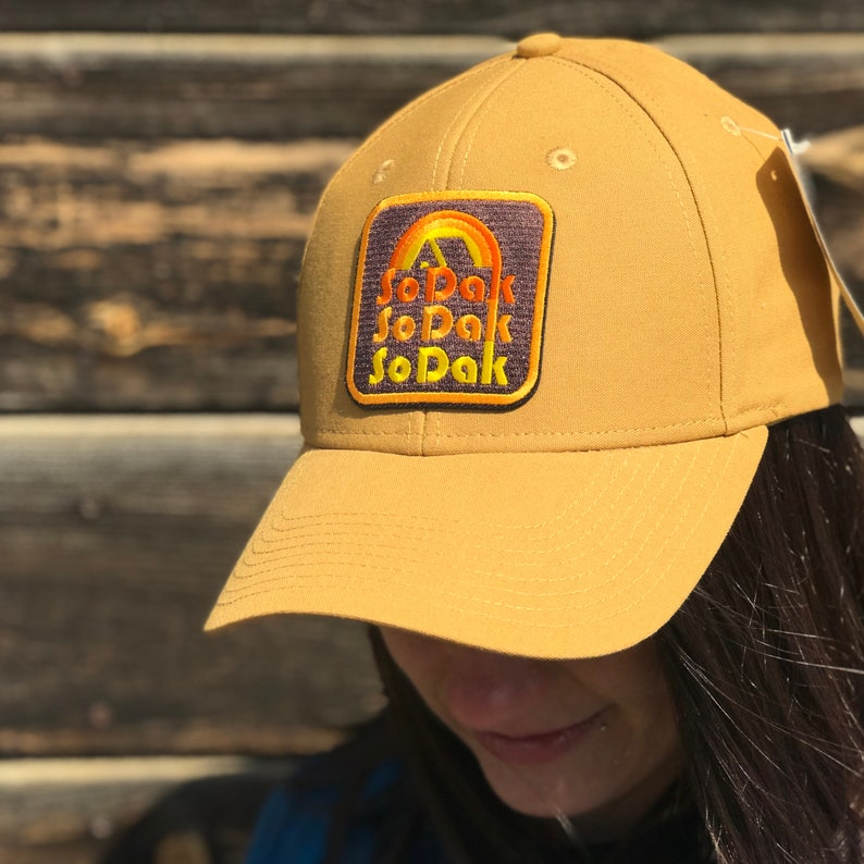 SoDak Retro Camping Duck Brown Trucker Hat  South Dakota Tan image 0