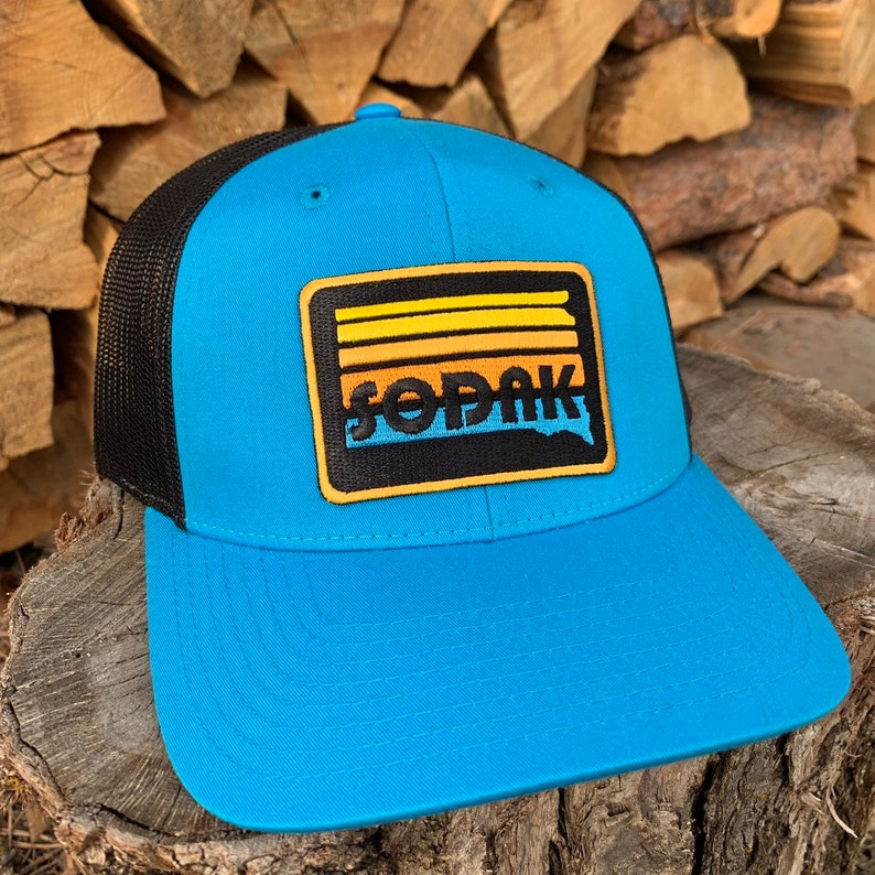 SoDak Sunset Blue Black Trucker Hat  South Dakota Sunset image 0