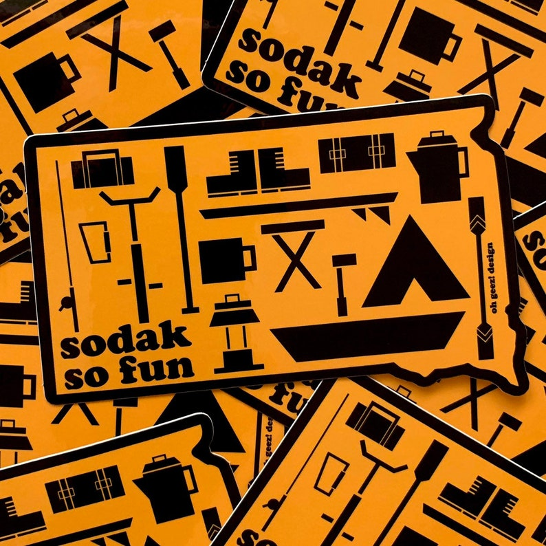 SoDak So Fun Sticker by Oh Geez Design  South Dakota So Fun image 0
