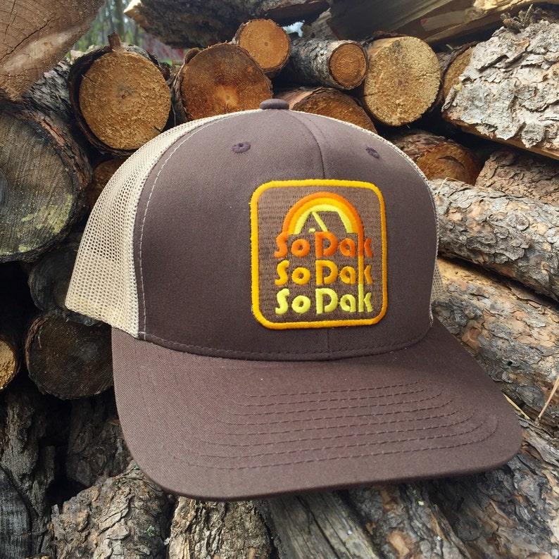 South Dakota Trucker Hat  SoDak Retro Trucker Snapback Cap  image 0