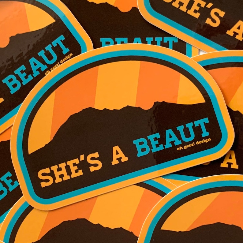 She's a Beaut Sticker  Bear Butte South Dakota Sticker Oh image 0