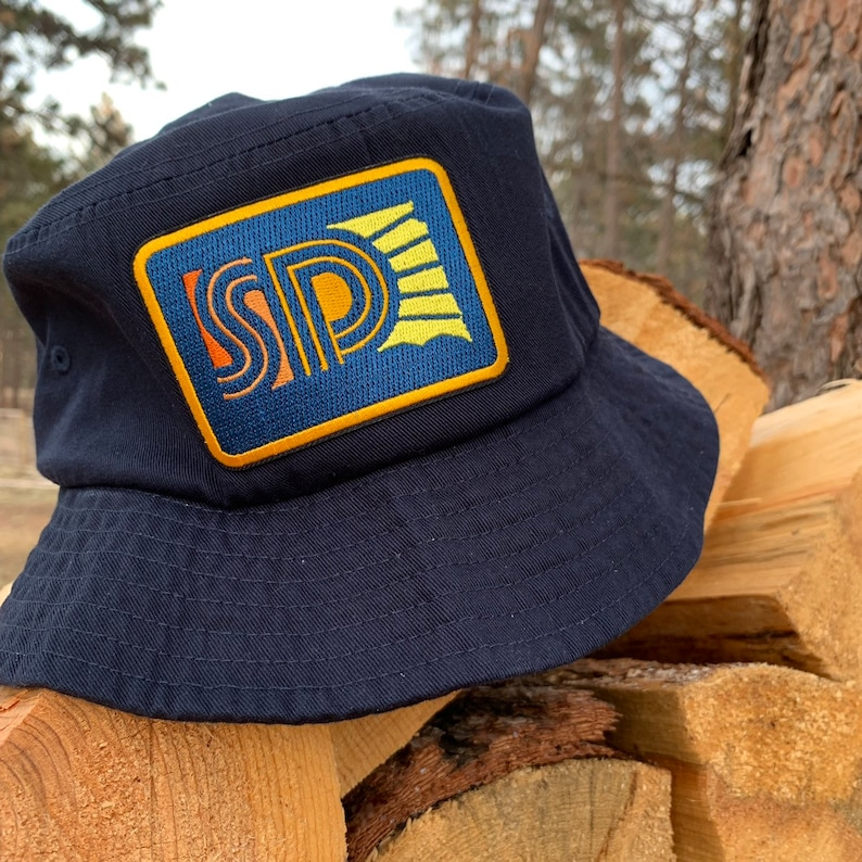 Bucket Hat SD Sunny  South Dakota Sunny Embroidered Patch image 0