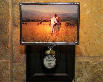 Custom Photo Night Light with Personalized Charm