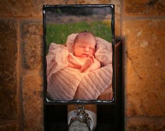 Custom Photo Night Light, Personalized Photo Nightlight, Custom Photo Frame