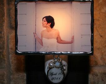 Custom Photo Night Light with Personalized Charm, Photo Nightlight