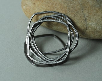 RBKS select your color and quantity Hand hammered irregular organic square link connector size aprox 20x20mm FA00011