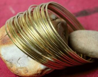 Stacking Bracelet Bangle, Solid Brass Bangle, Blangle Blank, Bangle Set, Small, 6 pcs (item ID FA00105RB)