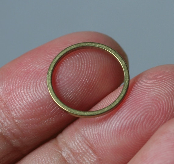 Loop 27mm 6 Pieces Raw Brass Textured Ring 3896C-D-507