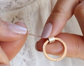 Personalised Rose Gold Circle Necklace