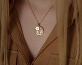 Personalised 9ct Gold Goddess Initial Necklace