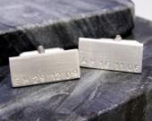 Personalised Silver Cuff Links | Unique gift for him | Custom Cuff Links | Groomsman Cufflinks