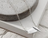 Personalised Silver Toggle Necklace
