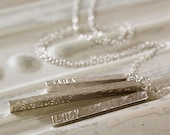 Personalised Silver Bar Necklace| Gift for Her| Sterling Silver| Gift for Mum| Unique Birthday Gift|