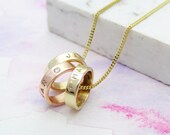 Personalised Rose Gold & yellow Gold Pendant | Gold Diamond Necklace | Birthday Gift