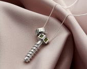 Personalised Gemstone Nut & Bolt Necklace