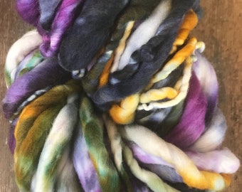 What A Wonderful World - luxury handspun yarn, super soft yarn, 56 yards, ultra bulky yarn, handspun art yarn, chunky art yarn, bulky yarn