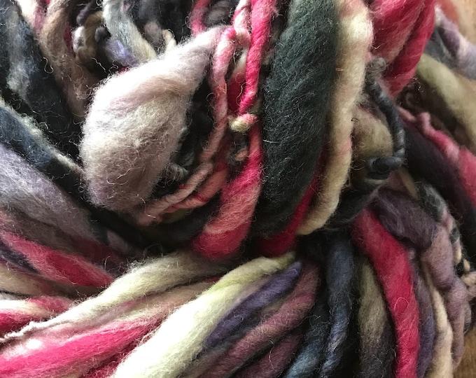 The Path - handspun bulky yarn, 58 yards, bulky yarn, rustic art yarn, chunky yarn, wool handspun yarn