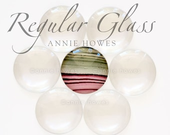 1.5 Inch, 38mm Crystal Clear Glass Cabochon Tiles. Clear Domed Glass Circles - 25 Pieces-UB