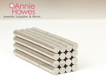25 Extremely Strong 1/4 In Neodymium Magnets - 1/4 x 1/16 Inch Super Strong Neodymium Magnets.