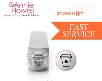 Impressart Metal Stamp for Jewelry  - Coffee Cup Design Stamp