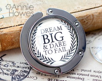 Purse Hanger with Glass Insert DIY Kit. Photo Jewelry Making from Annie Howes.