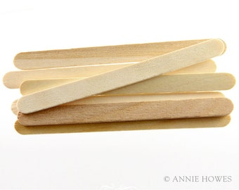 "100 Pack Wood Craft Stir Sticks. 4.5"" Length."