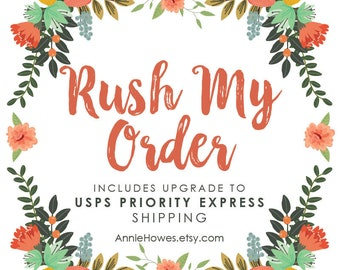 RUSH My Order - Upgrade with US Express Mail Upgrade